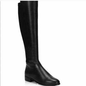 Micheal kors Bromley flat tall boots black leather